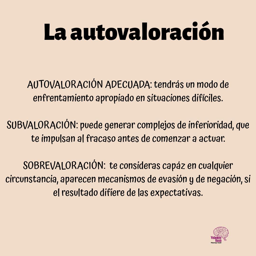 La autovaloracion