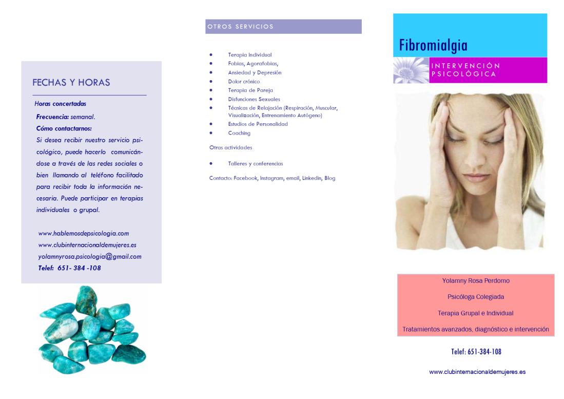 Fibromialgia CLUBINTERNACIONALDEMUJERES